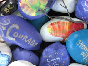 [KindnessRocks image: Courage]